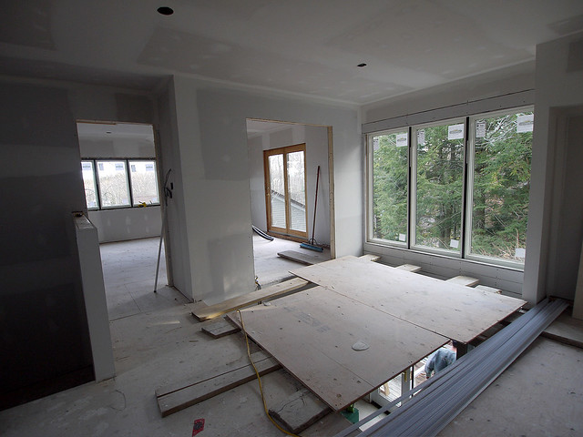 upper level view to TV room