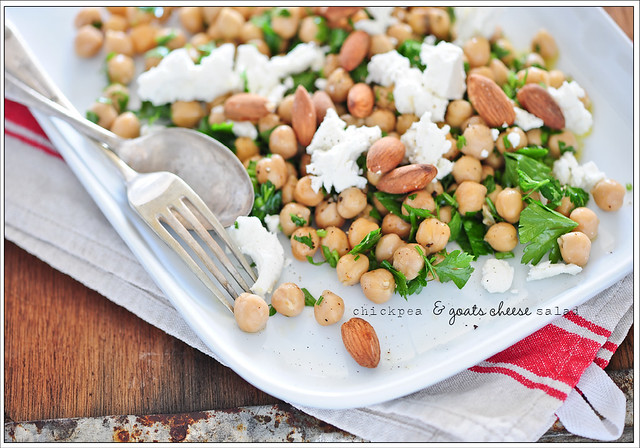 chickpea & goats cheese salad