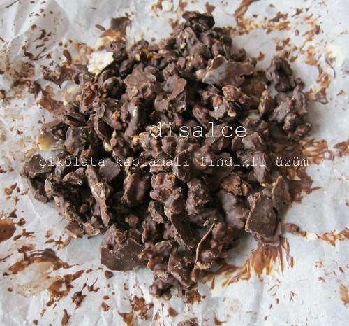 çikolatalı üzümler