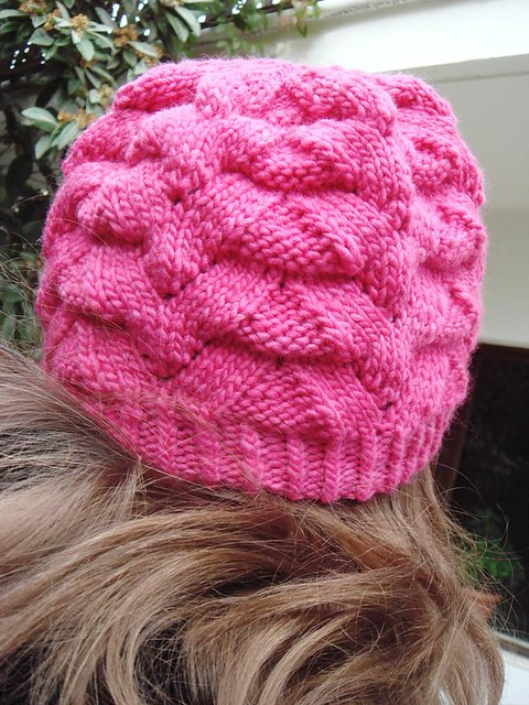Fuschia Monkey hat