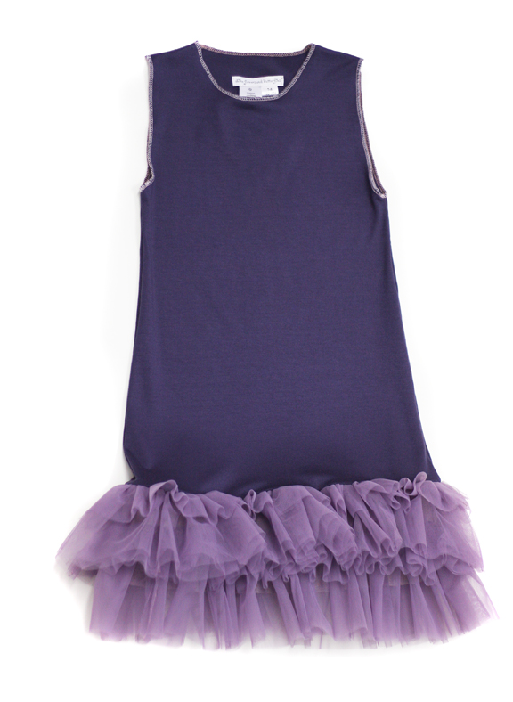 lilac tulle jersey dress