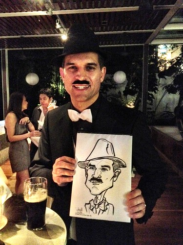 Caricature live sketching for Diageo Singapore Pte Ltd - 2