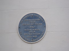 Photo of Edward Taylor and William Taylor blue plaque