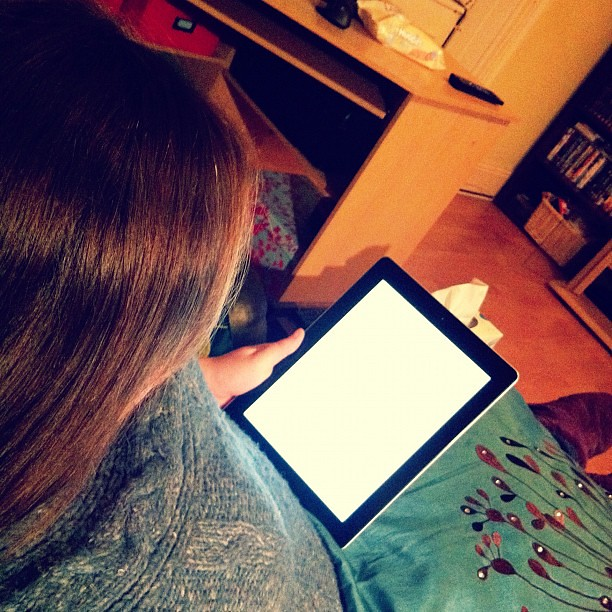 I actually got to read on my own iPad while the boys were away! 46/366