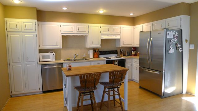 Kitchen before flickr photo sharing for Bulkhead over kitchen cabinets