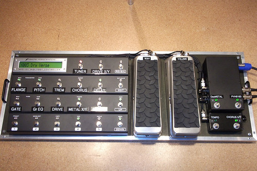 Fractal Axe FX II + MFC101 with 2x Dunlop DVP1 modified to 300K Linear ...
