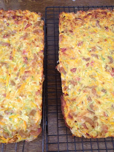 Zucchini and Pasta Slice - Double Batch