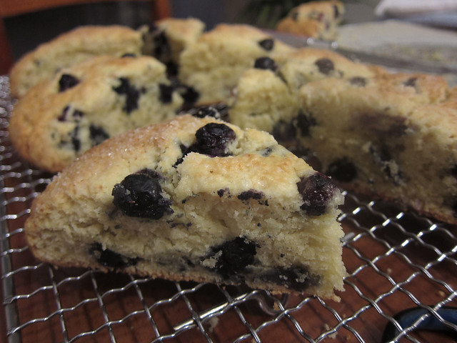 Blueberry cream scone