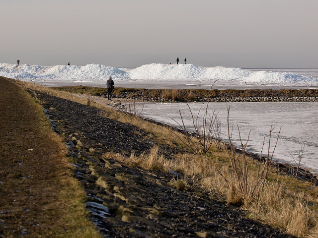 Polar landscapes at the coast of Hindeloopen
