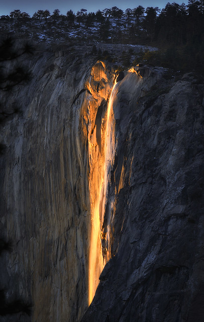 Horsetail Falls, Yosemite, 2012