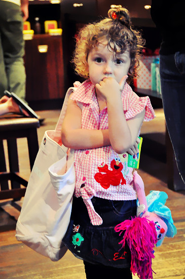 Max Brenner Chocolate Bar Southbank: Cute Little Girl