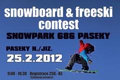 Freeski a snb contest Snowpark 686 Paseky 2012