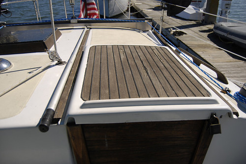 How To Repair or Replace Teak Wood Decking On A Boat - Before
