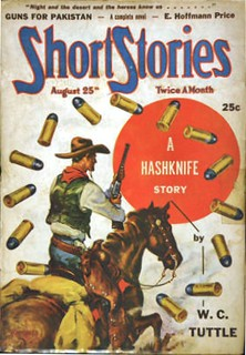 107b Short Stories Aug-25-1942 Cover by Pete Kuhlhoff - Includes Guns for Pakistan by E. Hoffmann Price