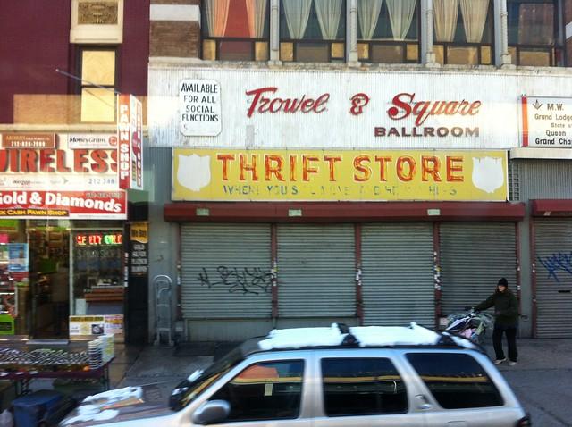 Trowel square ballroom thrift store harlem for J crew stores manhattan