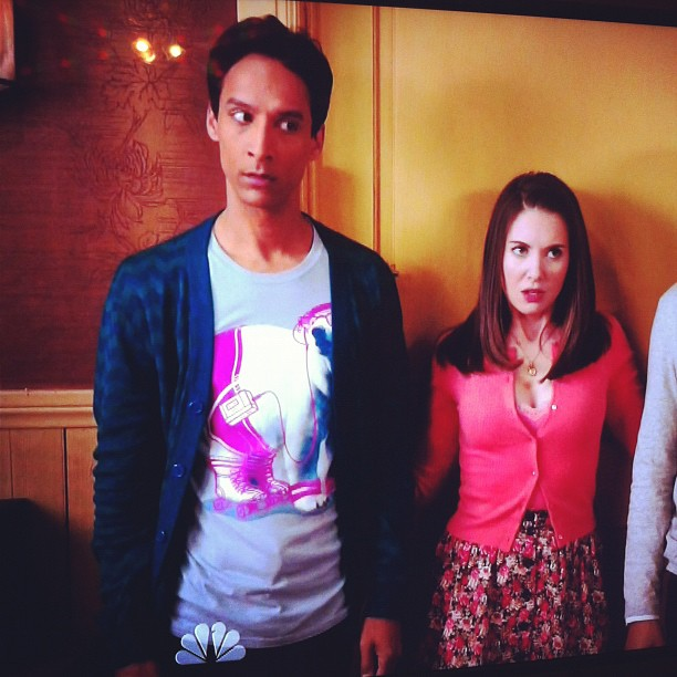 Abed is wearing another one of my shirts again on Community! :D