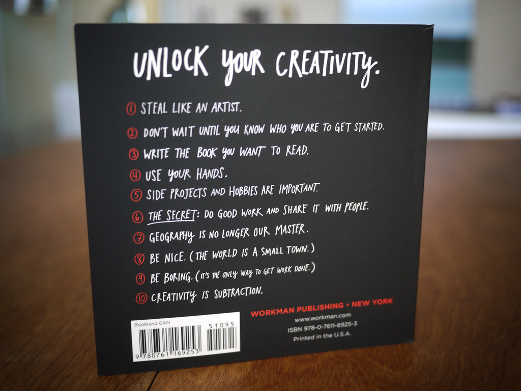 Steal Like An Artist - Back cover
