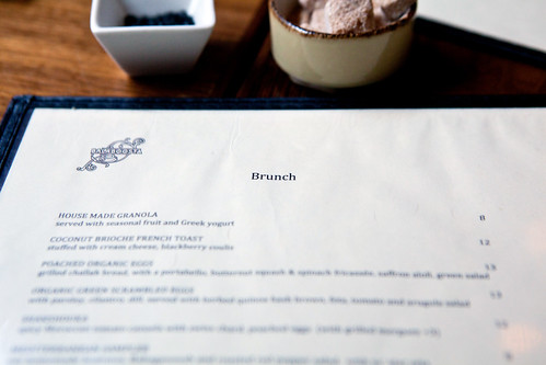 Brunch menu of Balaboosta