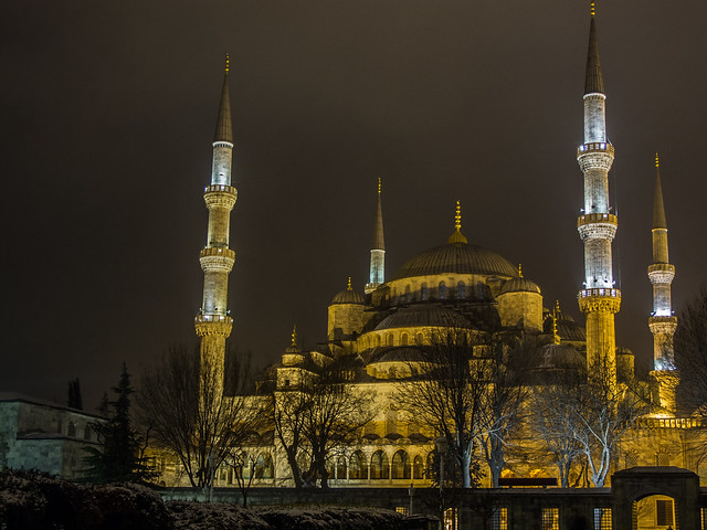 Sultan Ahmed Mosque in Snow
