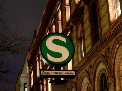 Berlin - S-Bahnhof Oranienburger Straße - Linien S1,S2,S25