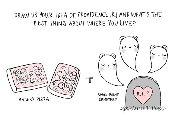 Andrea Kang illustrated interview... Draw us your idea of Providence, RI... and what's the best thing about where you live?