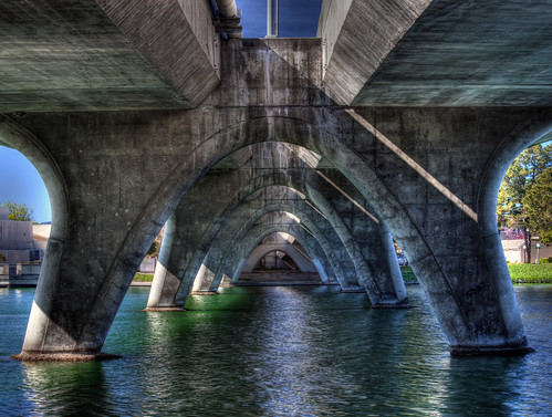 Foster City - Beach park Blvd under bridge