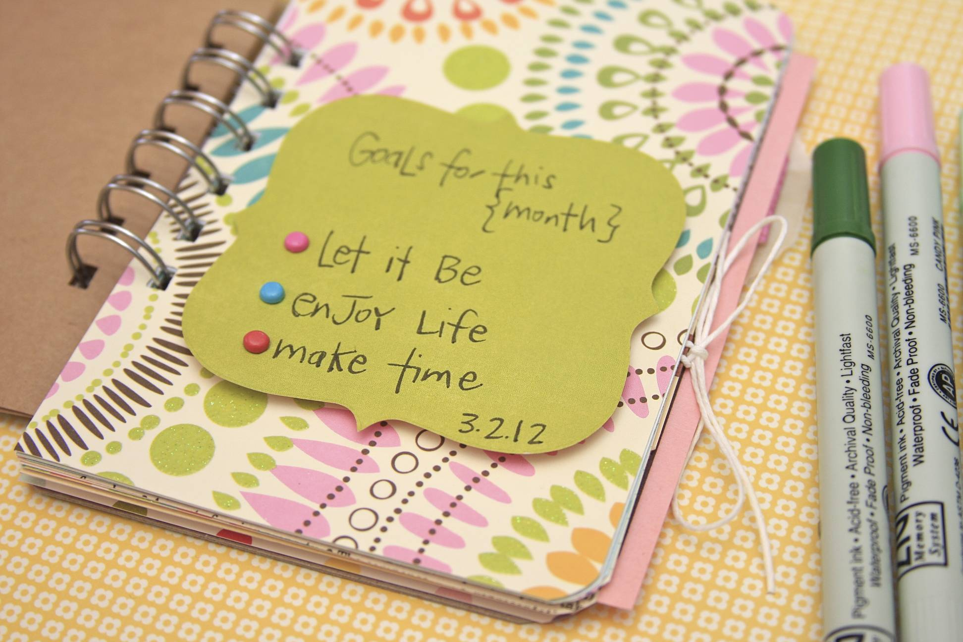 Goals for this Month | 30 Days of Lists | March 2012