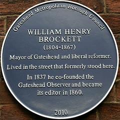 Photo of William Henry Brockett blue plaque
