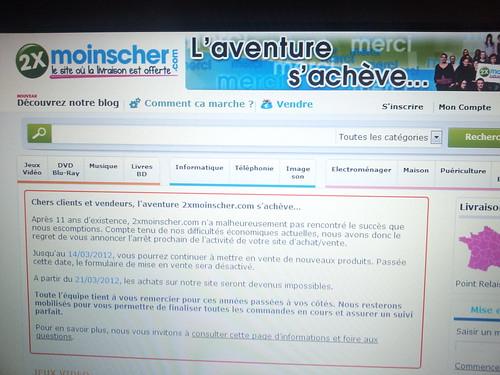 Adieu 2xMoinsCher !