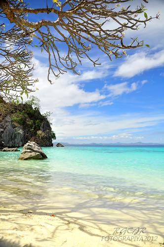 seascape beach landscape island coron palawan banol banolbeach