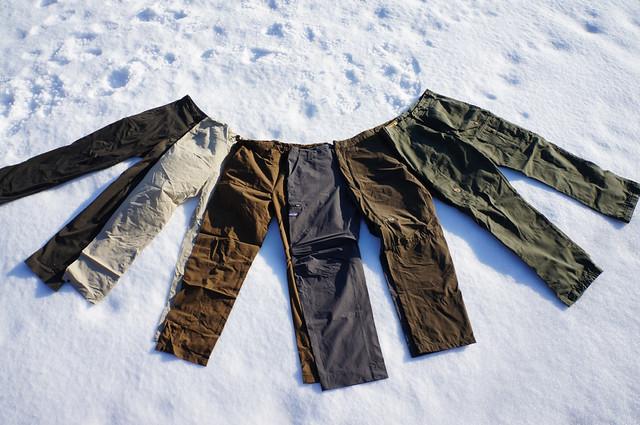 Seven-legged hiking pants