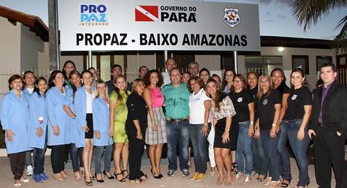 A equipe do Pro Paz em Santarém