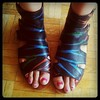 showing off toes chipped polish :( Jennifer from <a