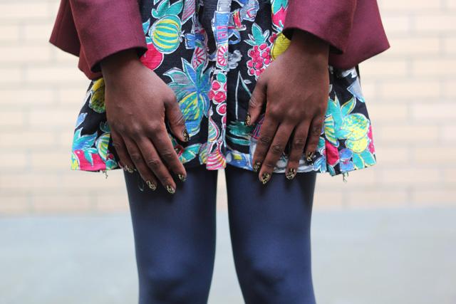 vintage skirt nail wraps
