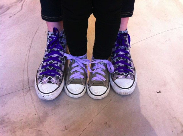 Purple laced Chucks