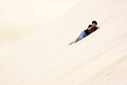 On White Sand Dunes, Phan Thiet, Vietnam