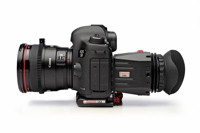 Canon 5D Mark III with Zacuto Z-Finder