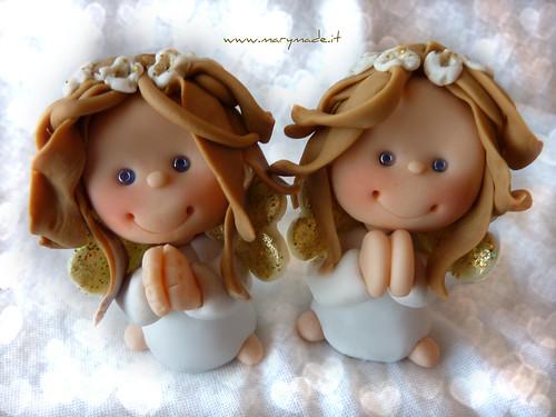 Angeli e Angeli Custodi come Bomboniere fatte a mano MaryMade