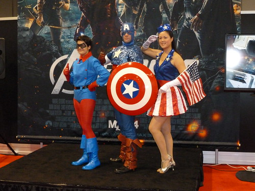 Captain America, Bucky and USO Girl at WonderCon 2012