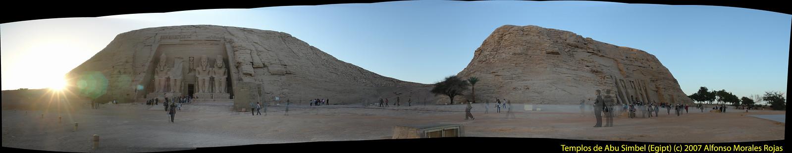Templos de Abu Simbel, justo en frente del lago Nasser y de su ubicación original, a 90 metros por encima de su enclave original. Abu Simbel, el templo de las dos vidas - 6990455441 b80b12b75d h - Abu Simbel, el templo de las dos vidas