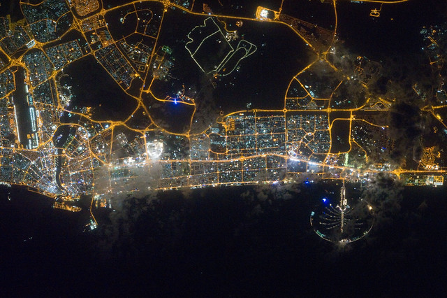 Dubai, United Arab Emirates at Night (NASA, International Space Station, 02/22/12)