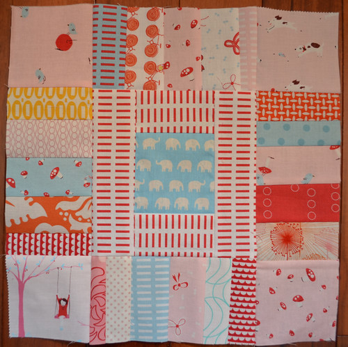 Fussy Cut Scrappy Square - For Kathryn, Bee a {modern} Swapper