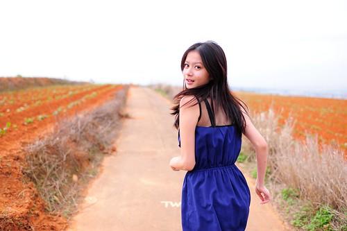 無料写真素材, 人物, 女性  アジア, 台湾人, ワンピース・ドレス, 女性  振り向く