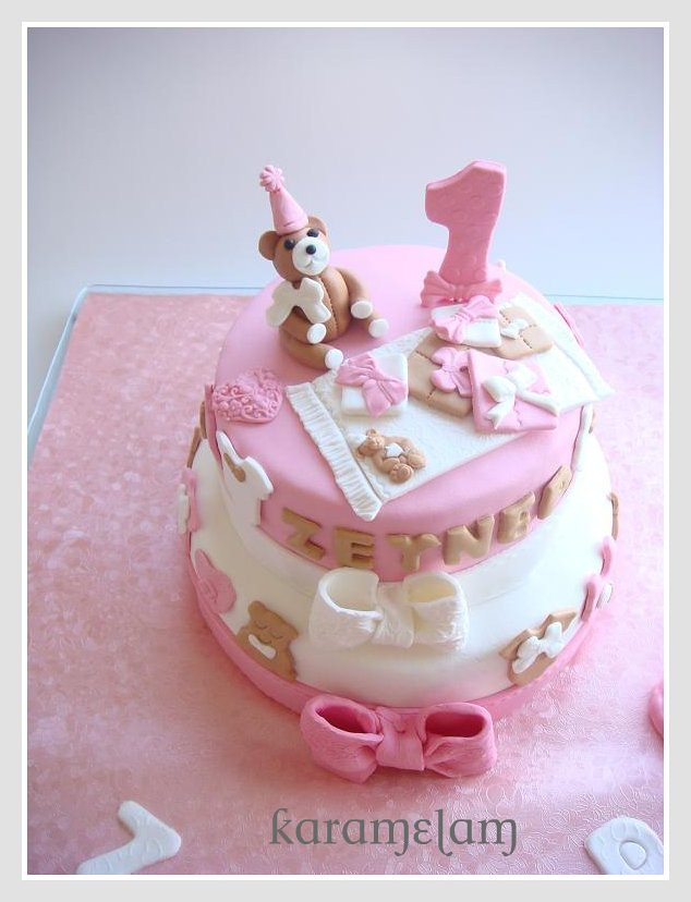 teddy bear cakes for baby girl