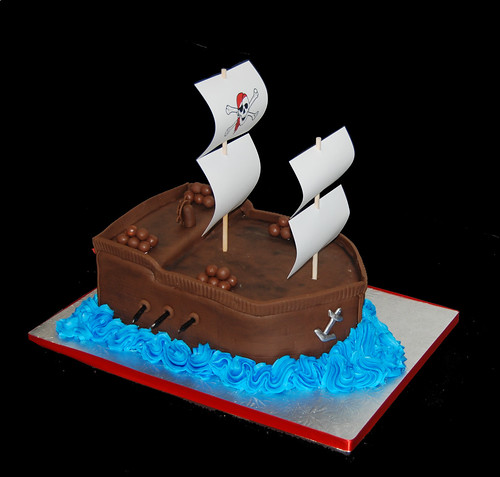 3rd birthday pirate ship cake