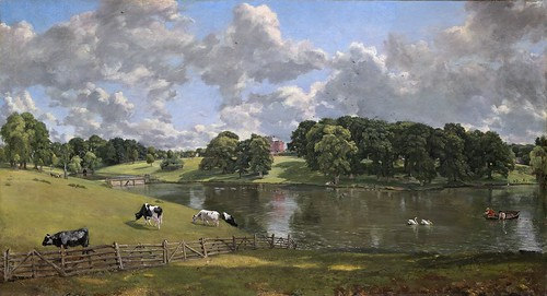 John Constable - Wivenhoe Park, Essex [1816] by Gandalf's Gallery