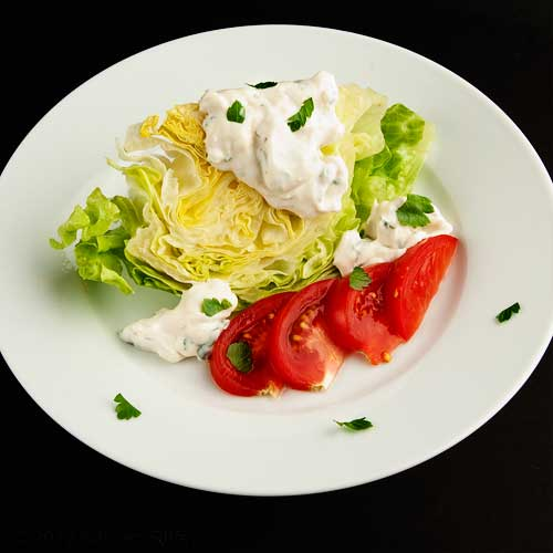 Blue Cheese Dressing on Wedge Salad