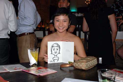 caricature live sketching for DVB Christmas party - 11