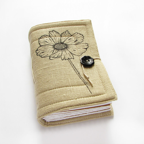 poppy handmade journal, botanical serie