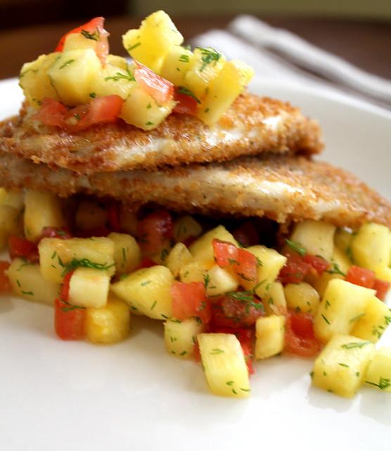 tilapia and fresh pineapple salsa
